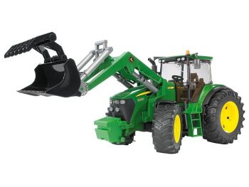 Bruder Traktor John Deere s sprednjo nakladalko eigrače