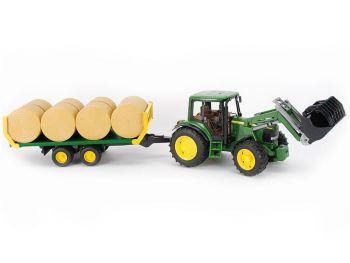 Bruder Traktor John Deere s prikolico eigrače