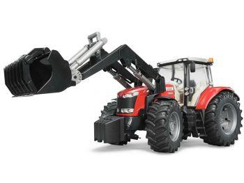 Bruder Traktor Massey Ferguson z nakladalko 03047