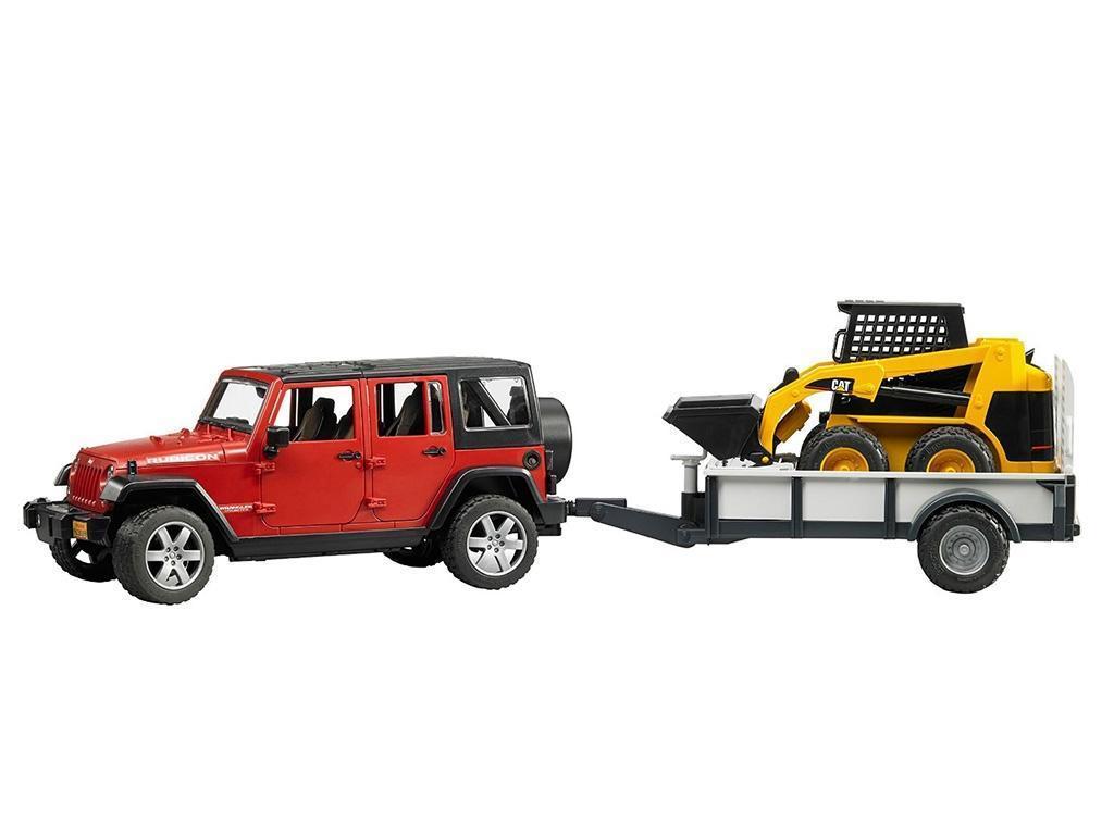 Bruder Jeep s prikolico in nakladačem eigrače
