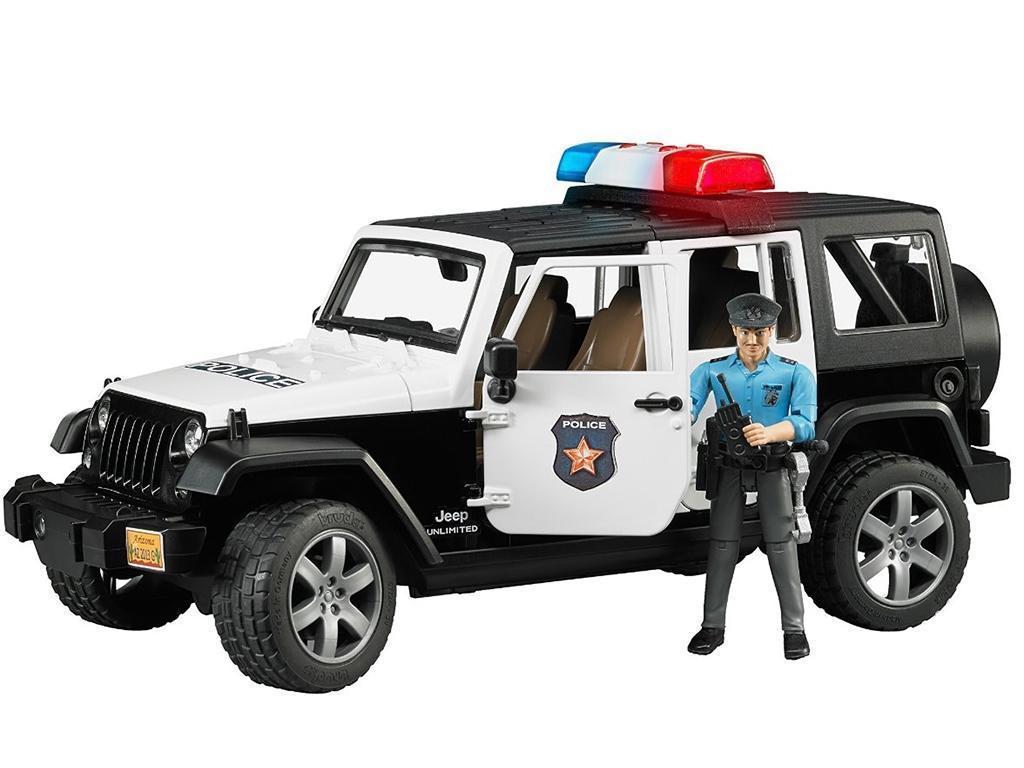 Bruder Policija Jeep Wrangler Unlimited Rubicon 02526 eigrače