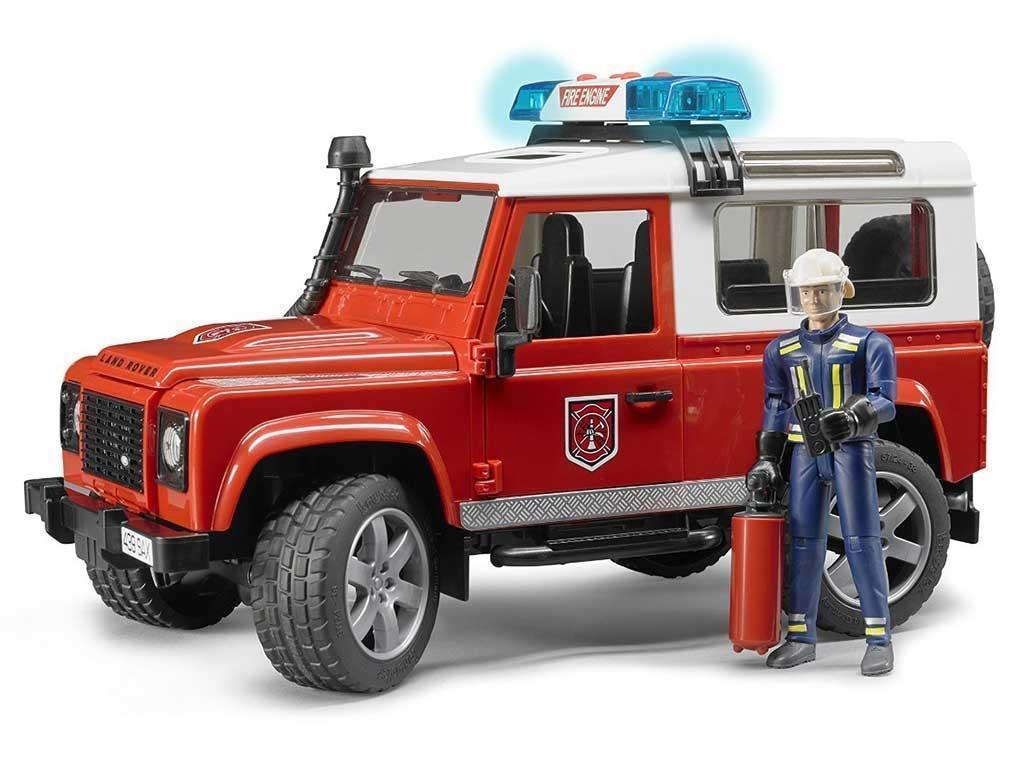 Bruder Land Rover z gasilcem 02596 eigrače