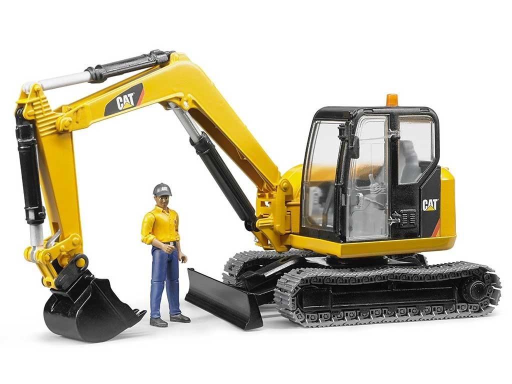 Bruder 02466 CAT Minibager z gradbenim delavcem