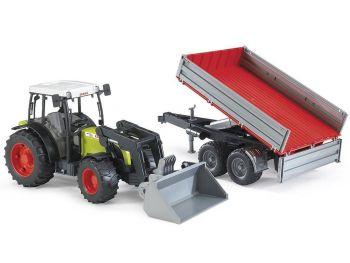 Bruder 02112 Traktor Claas Nectis s Prikolico