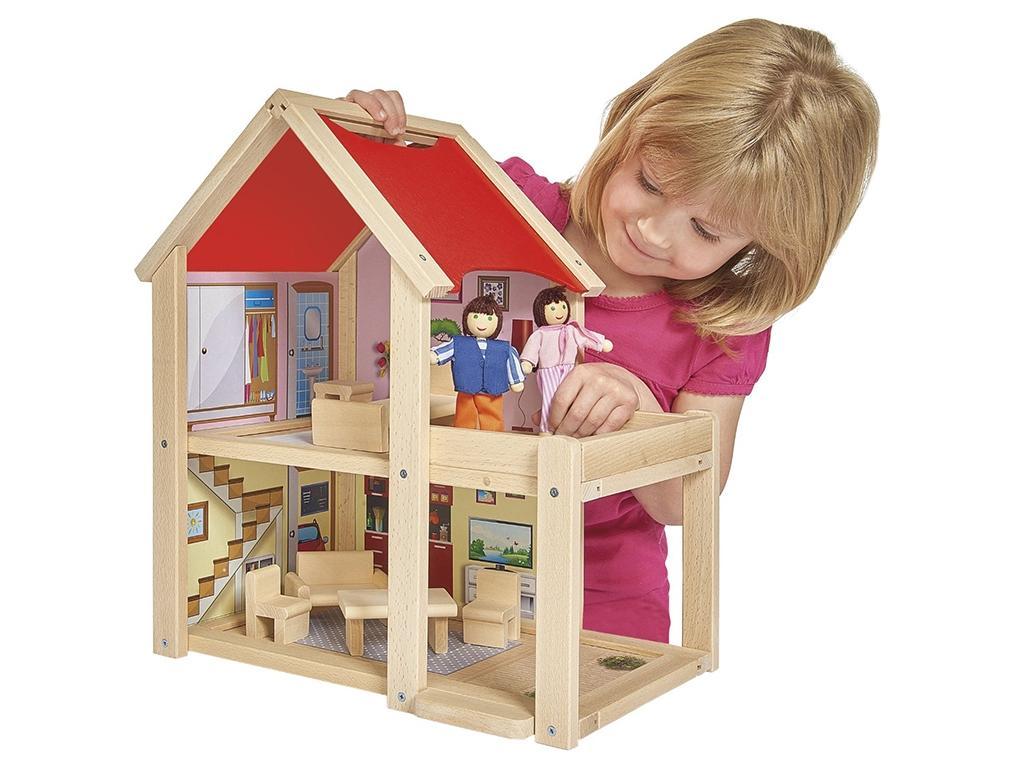 Eichhorn Opremljena otroška lesena hiša