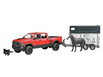 Bruder igrača RAM 2500 Power Wagon z prikolico za konja 02501