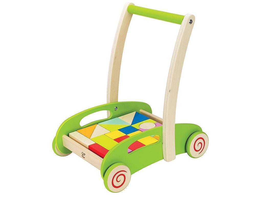 Hape Lesen voziček s kockami