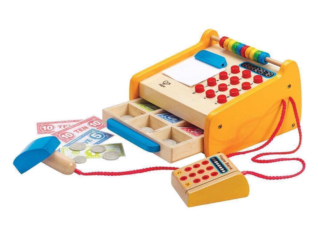 lesene igrače hape lesena blagajna