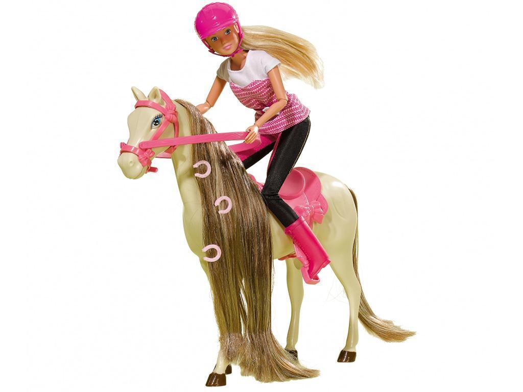 Punčka Steffi na konju