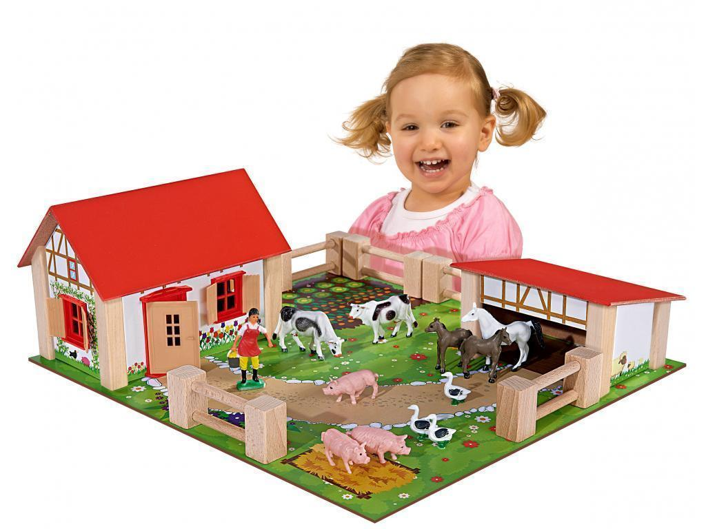 Eichhorn Otroška lesena kmetija mala 100004304