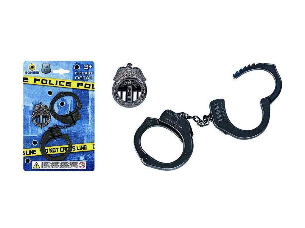 Lisice in policijska značka Gonher