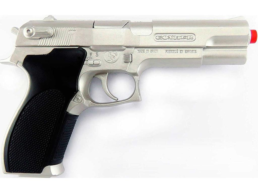 Otroška policijska pištola srebrna Ghoner