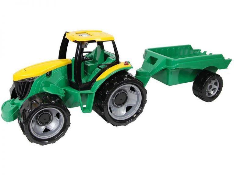Otroška igrača traktor z prikolico Lena