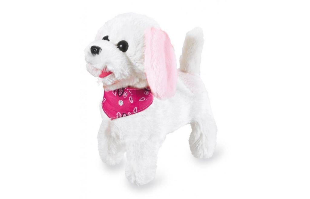 Trixi-RC-Plueschhund-Weiss-Rosa-27MHz