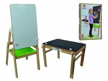 Eichorn 2v1 lesena otroška tabla