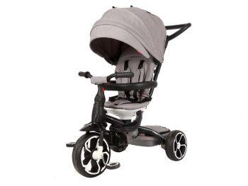 Otroški tricikel Qplay 4v1 siv