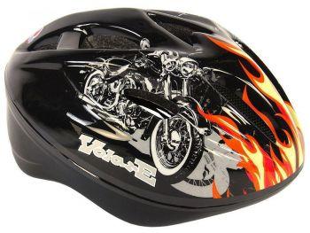 Otroška kolesarska čelada Black Flame