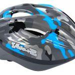 Otroška kolesarska čelada modro siva