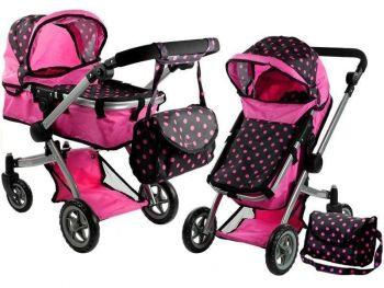 Otroški voziček igrača Alice 2 v 1 pink