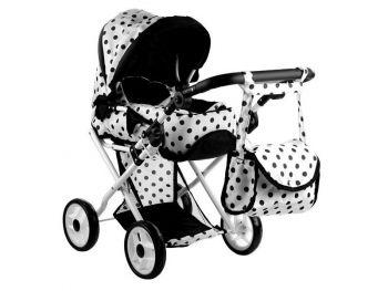 Otroški voziček igrača Alice belo črn