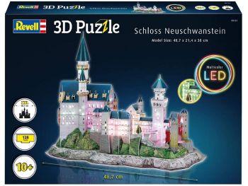 Puzzle sestavljanka 3D Revell GRAD NEUSCHWAINSTEIN z led osvetlitvijo