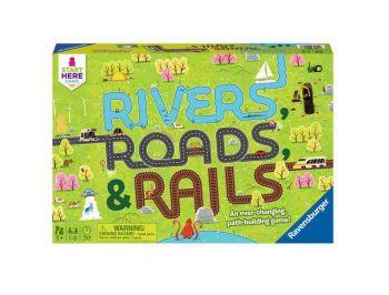 Družabna igra Reke ceste in železnice