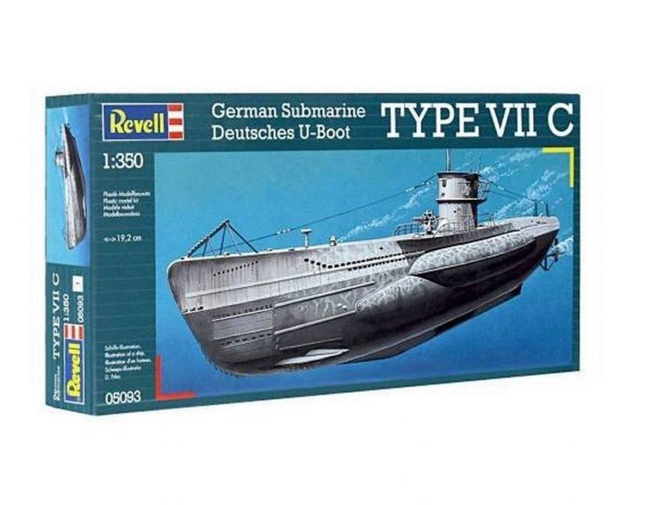 Revell maketa German Submarine TYPE VII C 05093 2
