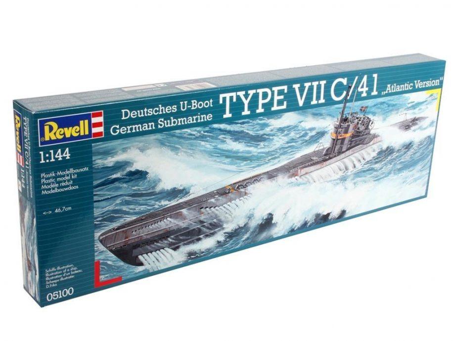 Revell maketa German Submarine TYPE VII C41 Atlantic Version 05100