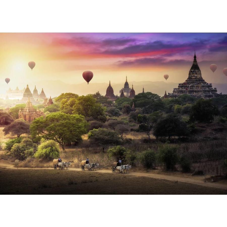Puzzle sestavljanka Ravensburger Baloni nad Myanmarom 1000 delna 151530 1