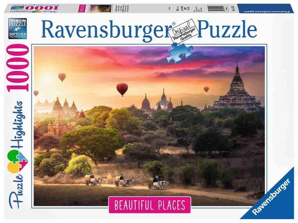 Puzzle sestavljanka Ravensburger Baloni nad Myanmarom 1000 delna 151530