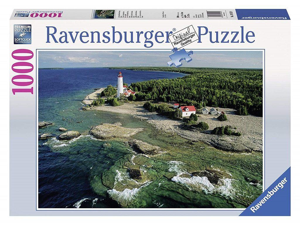Puzzle sestavljanka Ravensburger Svetilnik, polotok Bruce, Kanada 1000 delna 155033