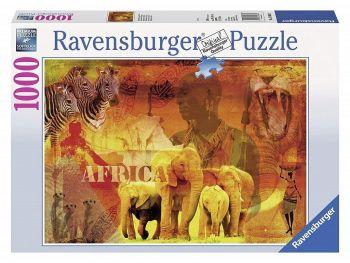 Sestavljanka Vtisi o Afriki Ravensburger 1000 kosov