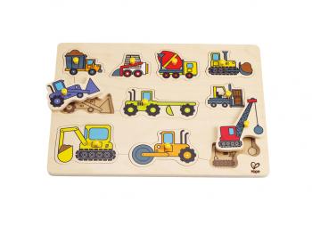 Hape Puzzle delovna vozila E1401