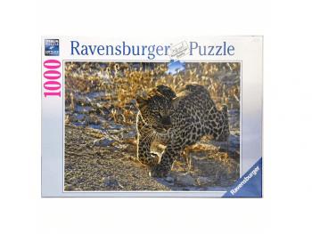 Sestavljanka Leopard v jutranji svetlobi Ravensburger 1000