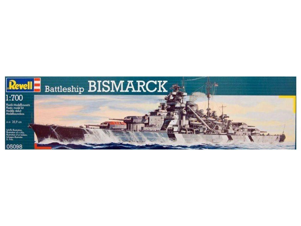 revell maketa ladje bismarck 05098