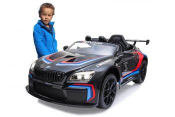Otroški avto na akumulator BMW M6 GT3 črn