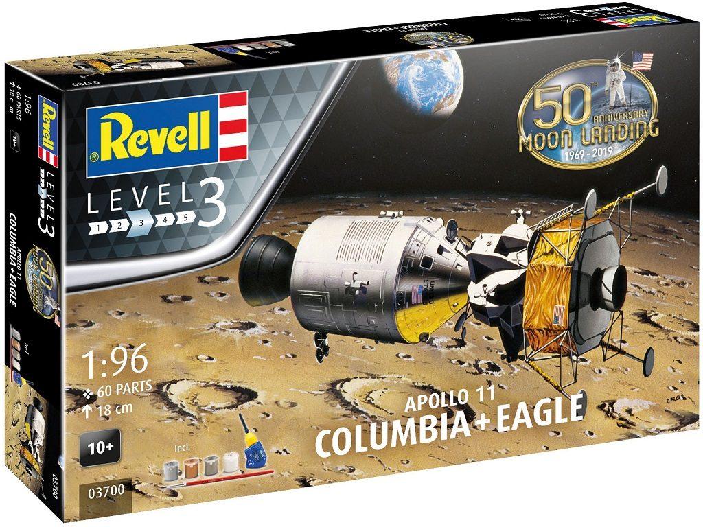 Revell model vesoljskega plovila Apollo 11 Columbia&Eagle 03700