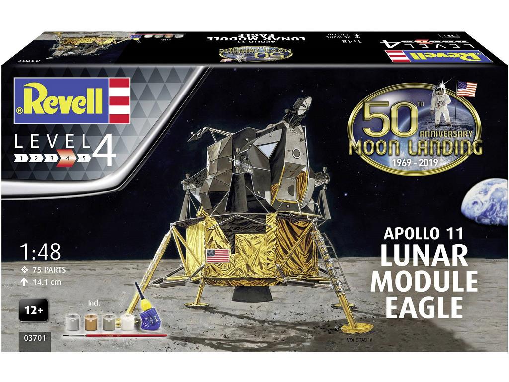 Revell model vesoljskega plovila Apollo 11 Lunar Module Eagle (50 Years Moon Landing) (z barvami) 03701