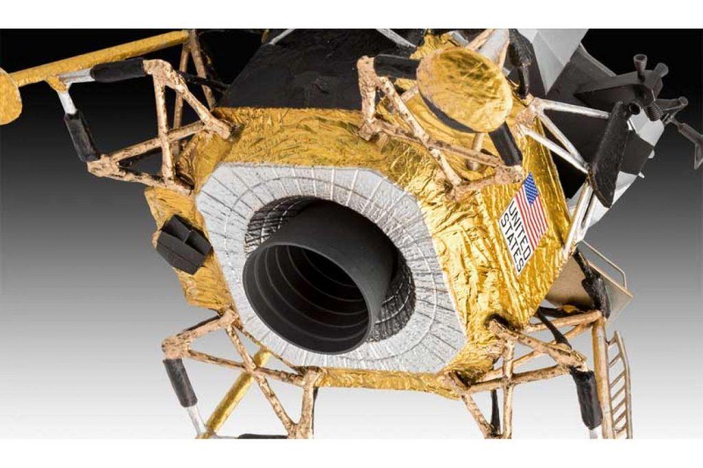 Revell model vesoljskega plovila Apollo 11 Lunar Module Eagle (50 Years Moon Landing) (z barvami) 03701 3