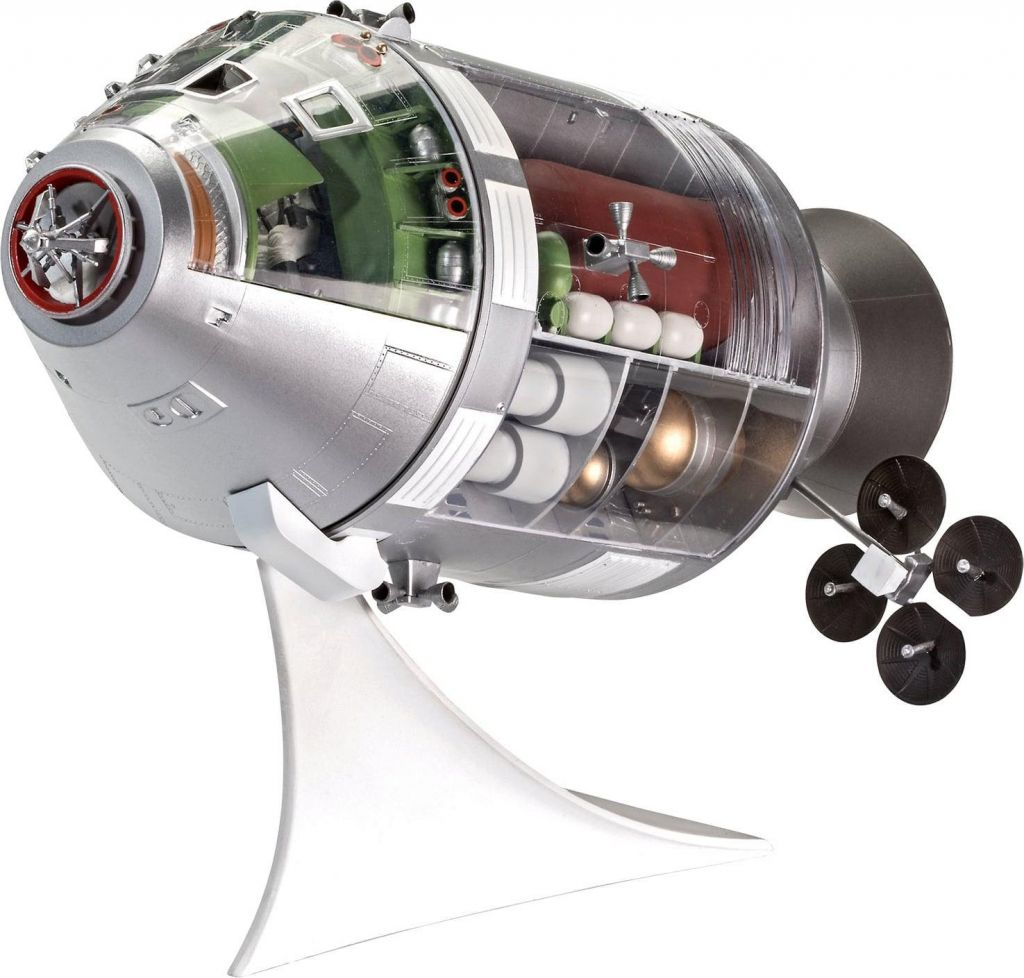 Revell model vesoljskega plovila Apollo 11 Spacecraft with Interior (50 Years Moon Landing) 03703 1