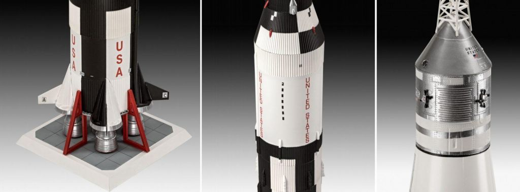 Revell raketa Apollo 11 Saturn V Rocket (50 Years Moon Landing) (set z barvami) 03704 1
