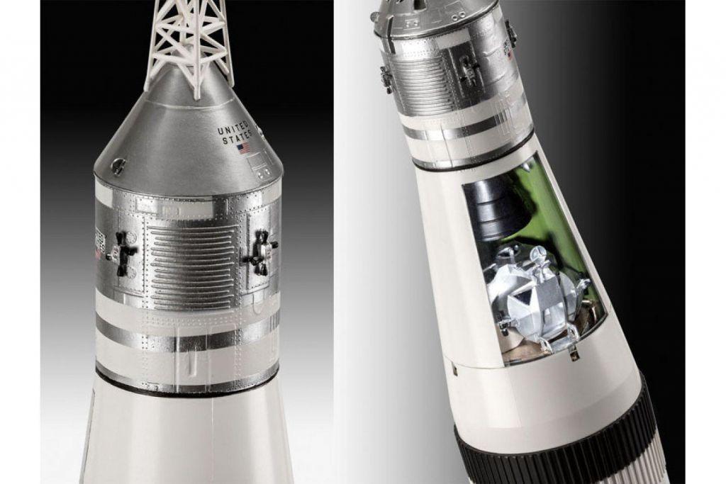 Revell raketa Apollo 11 Saturn V Rocket (50 Years Moon Landing) (set z barvami) 03704 2