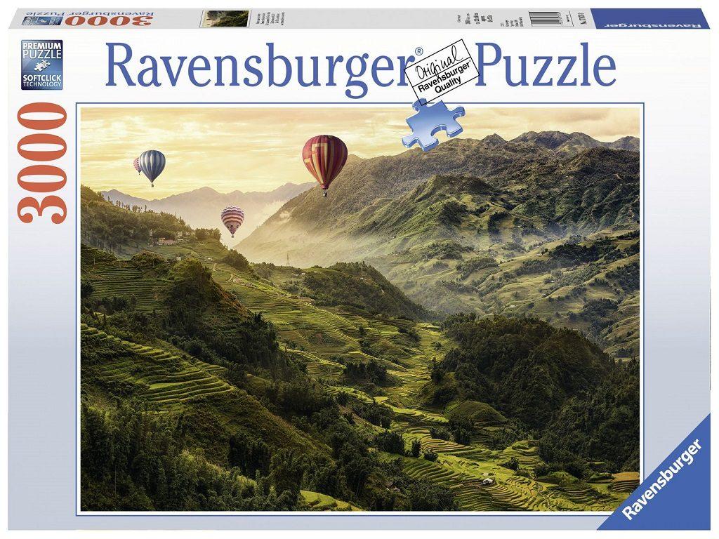 Sestavljanka Ravensburger Riževe terase v Aziji 3000delna