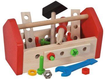 Lesena igrača škatla z orodjem Eichhorn