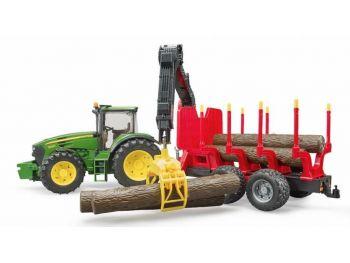 Bruder traktor 03054 John Deere 7930 s prikolico in hlodi