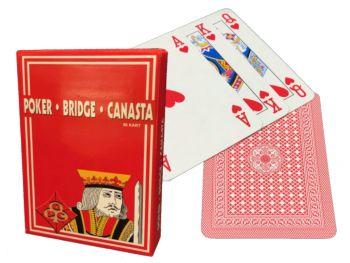 Igralne karte za Poker Bridge Remi Kanasta