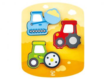 Hape puzzle - delovna vozila E1608