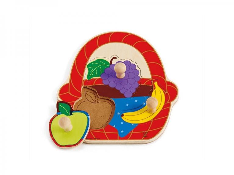 Hape puzzle - košara s sadjem E1306