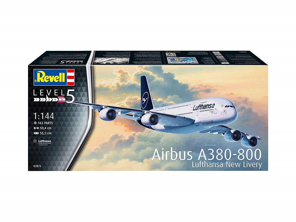 Revell maketa letala Airbus A380-800 Lufthansa New Livery – 180 03872