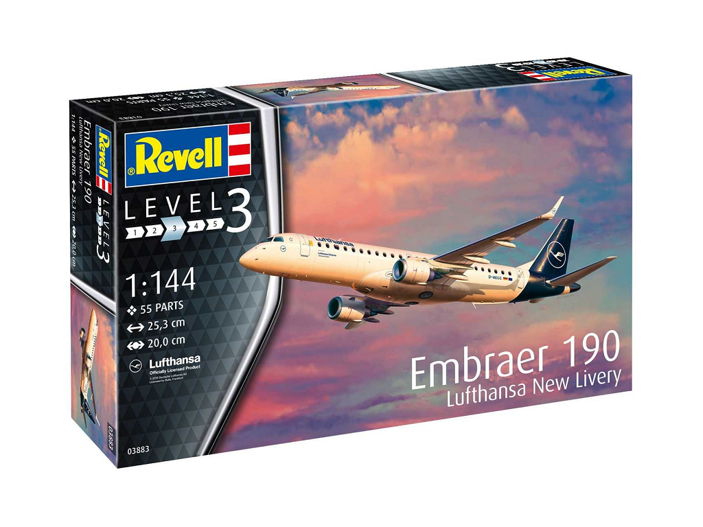 Revell maketa letala Embraer 190 Lufthansa New Livery 03883